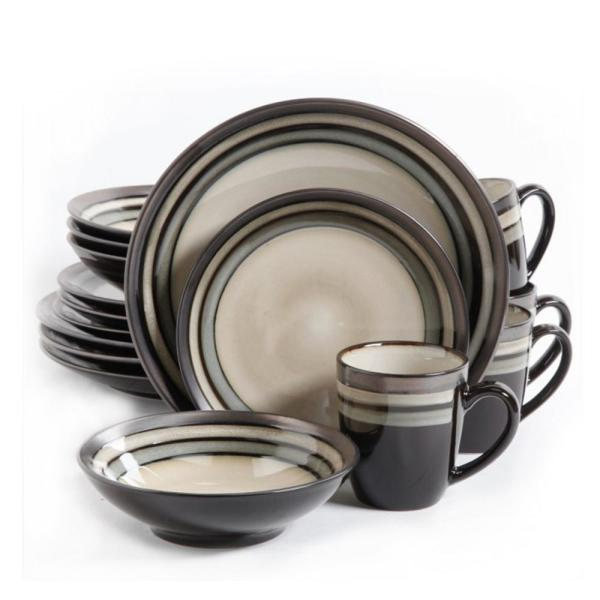 GIBSON elite Lewisville 16-Piece Gray Dinnerware Set 98597349M