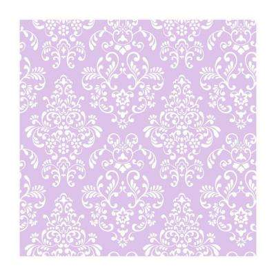 Delicate Document Damask Wallpaper