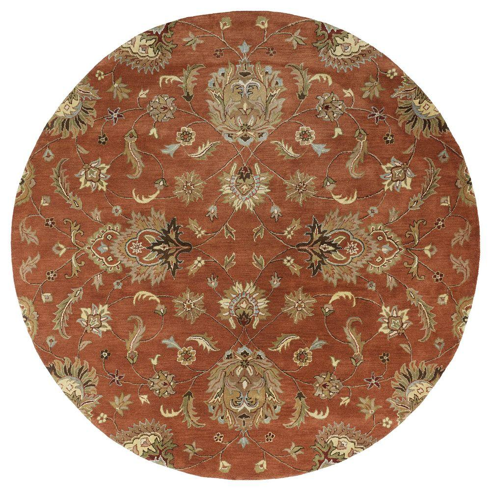 Kaleen Mystic Europa Copper 5 ft. 9 in. x 5 ft. 9 in. Round Area Rug