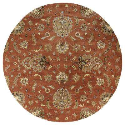 Mystic Europa Copper 8 ft. x 8 ft. Round Area Rug