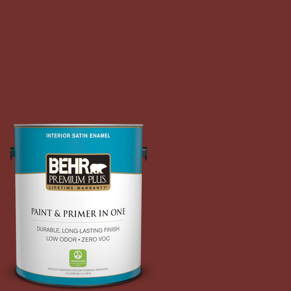 1-gal. #BXC-76 Florence Red Satin Enamel Interior Paint