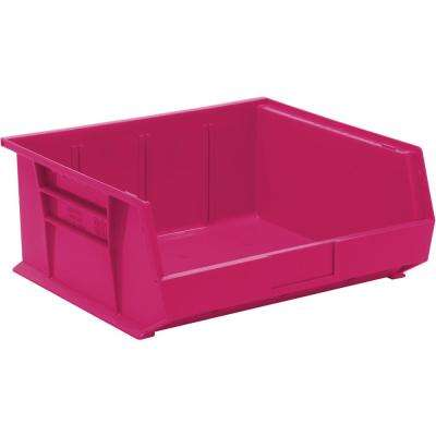 Ultra Series Stack and Hang 8.9 Gal. Storage Bin in Pink (6-Pack)