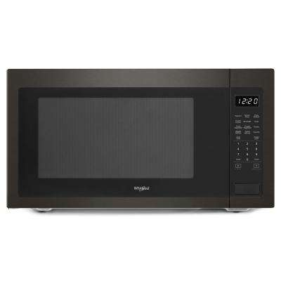 2.2 cu. ft. Countertop Microwave in Black Stainless with Greater Capacity