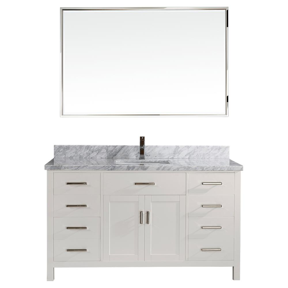 vanity mirror 36 x 60. studio bathe kalize ii 60 in. w x 22 d vanity in white mirror 36