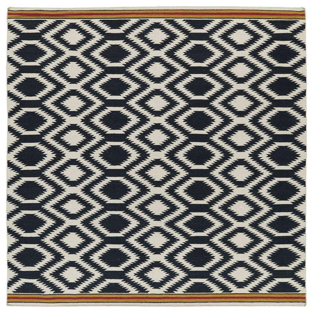 Kaleen Nomad Black 8 Ft. X 8 Ft. Square Area Rug-NOM04-02