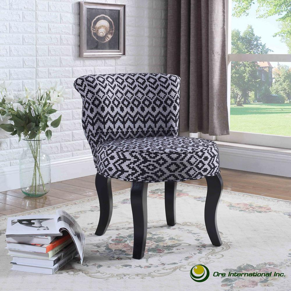Triangle Trellis Grey Accent Chair HB4688   The Home Depot