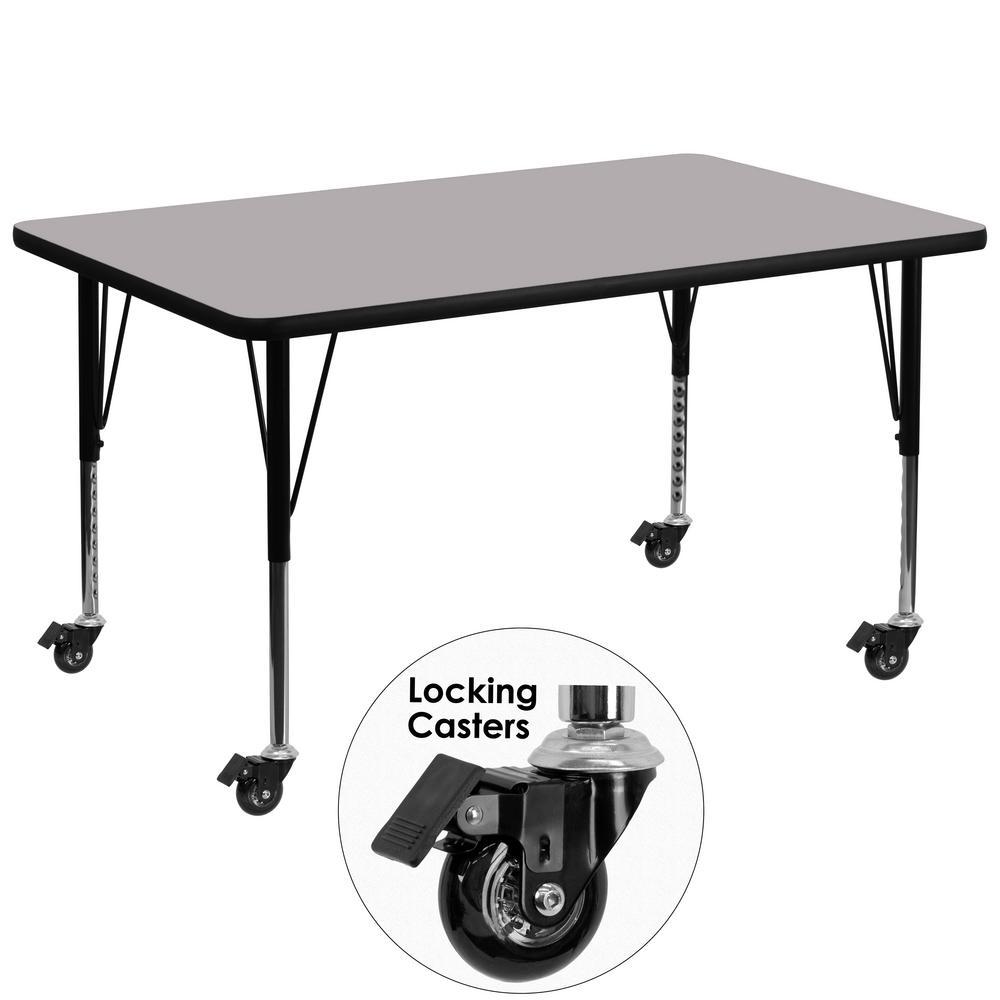 Flash Furniture Gray Kids Table XUA2448RECGYTPC