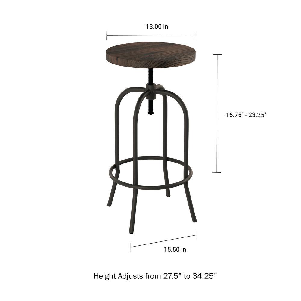 Marvelous Lavish Home 34 25 In Adjustable Modern Backless Metal Machost Co Dining Chair Design Ideas Machostcouk