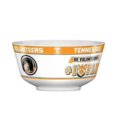 Tennessee Volunteers 128 Oz. Orange Chip Bowl with Dividers and Dip Bowl Accessories