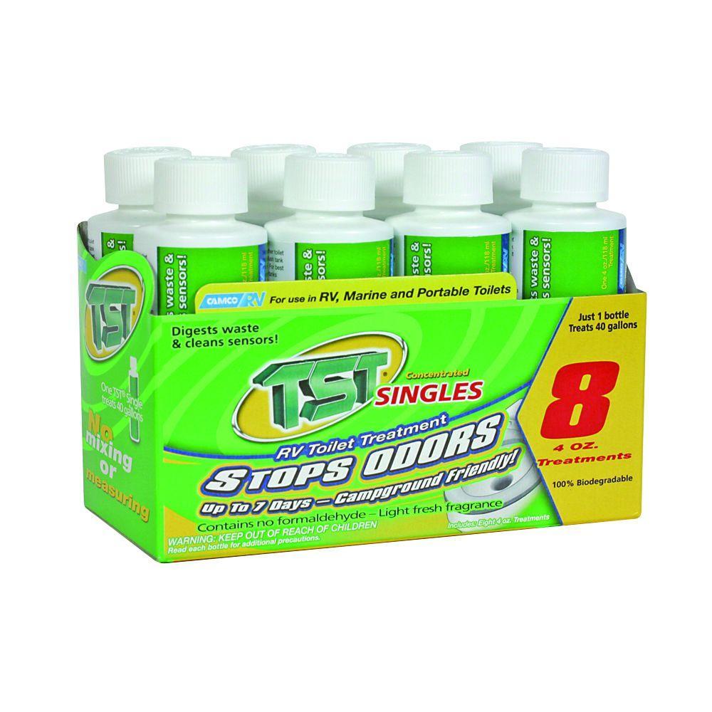 TST 4 oz. Singles RV Toilet Treatment Bottles (8-Pack)