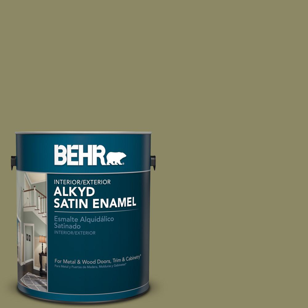 1 gal. #PPU9-23 Oregano Spice Satin Enamel Alkyd Interior/Exterior Paint