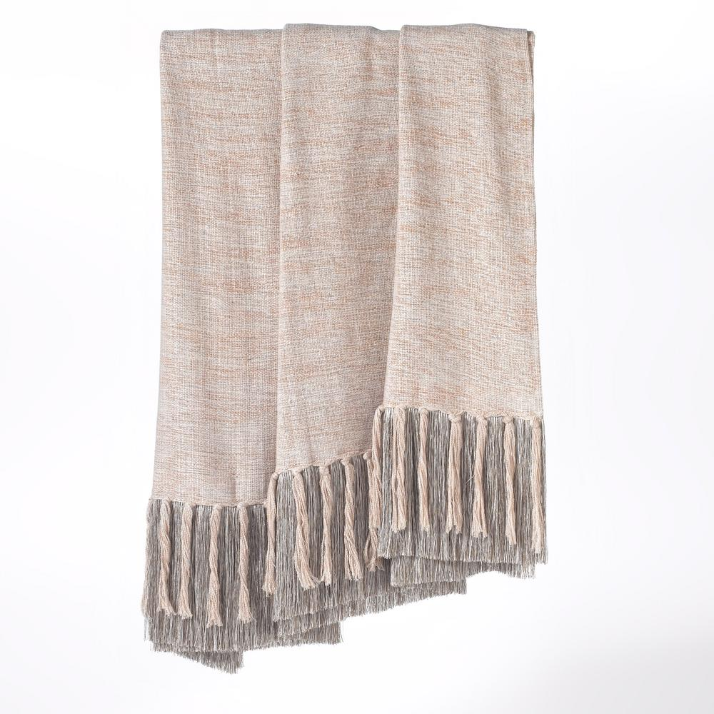 Heavenly Ivory/Tan/Taupe/Grey Throw Blanket