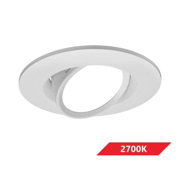 DCG Series 6 in. 2700K White Integrated LED Recessed Gimbal Trim