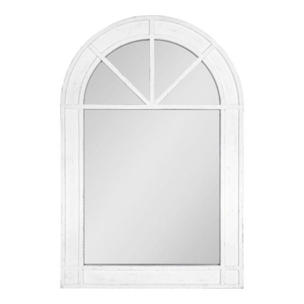 Medium Arch White American Colonial Mirror (36 in. H x 24 in. W)