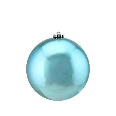 Shiny Turquoise Blue UV Resistant Commercial Shatterproof Christmas Ball Ornament