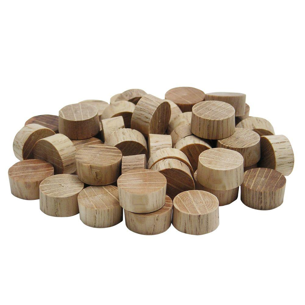 1/2 in. Flat Head Oak Plugs