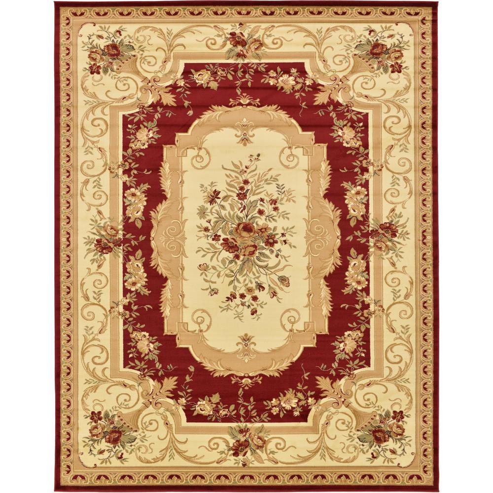 Unique Loom Traditional Versailles Red 10 Ft X 13 Ft Rug