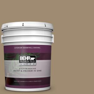 Behr Premium Plus Ultra 5 Gal T14 17 Archivist Eggshell Enamel Interior Paint And Primer In One 275405 The Home Depot