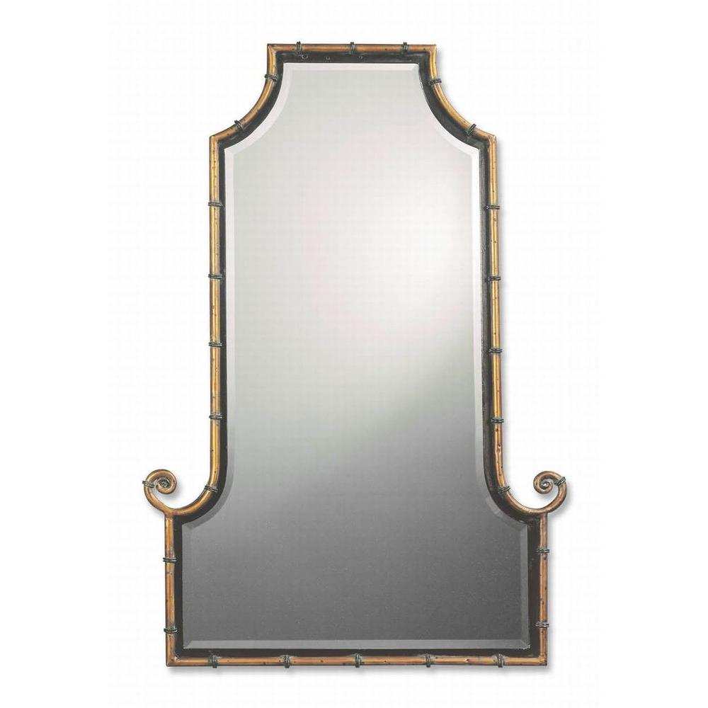 Global Direct 42 in. x 29 in. Gold Framed Mirror