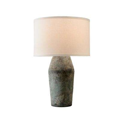 Artifact 27 in. Moonstone Table Lamp with Off-White Linen Shade