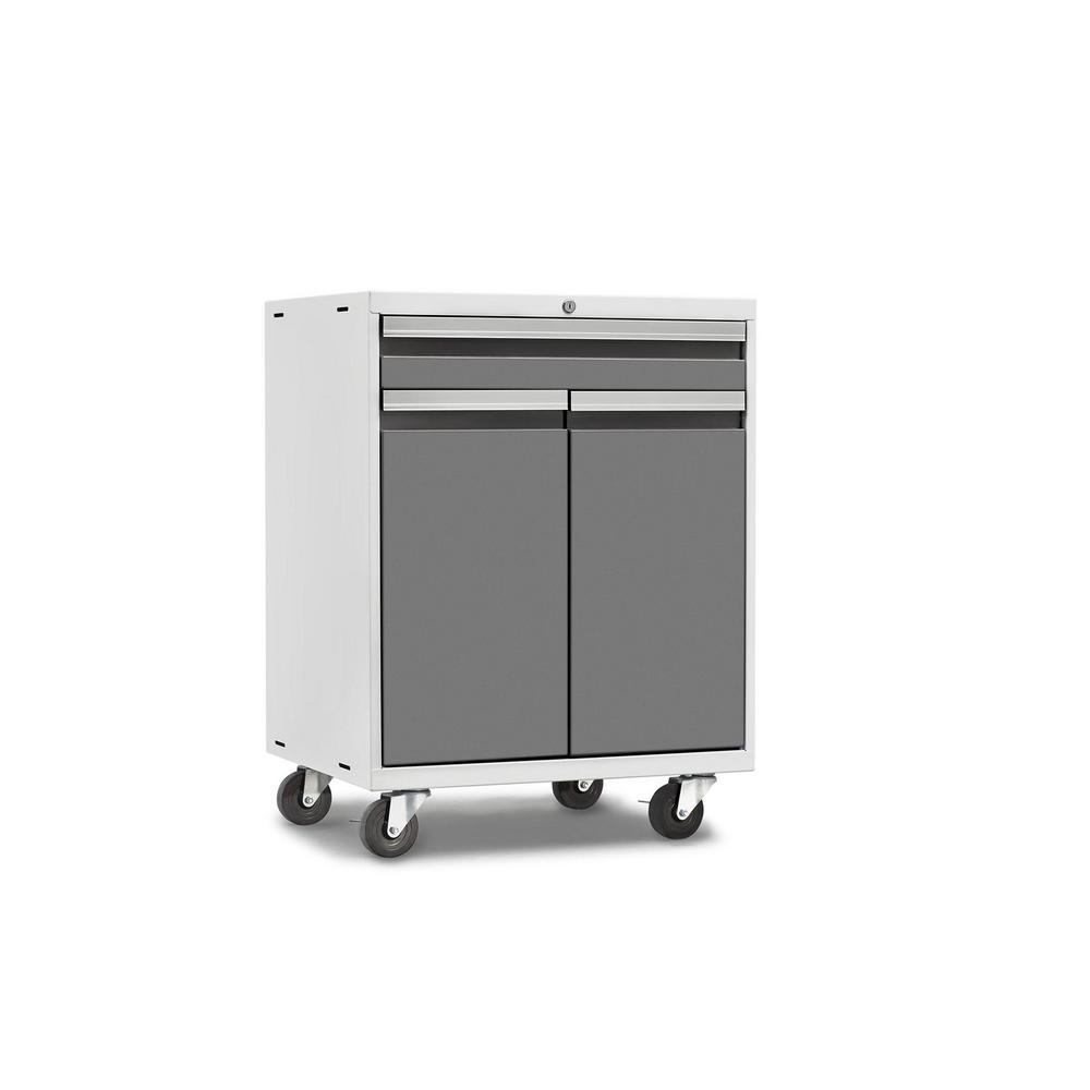 Pro 3.0 Series 28 in. W x 35.5 in. H x 22 in. D 18-Gauge Welded Steel Multifunction Cabinet in Platinum