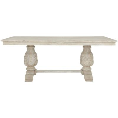 Kingsley Sandblasted White Dining Table