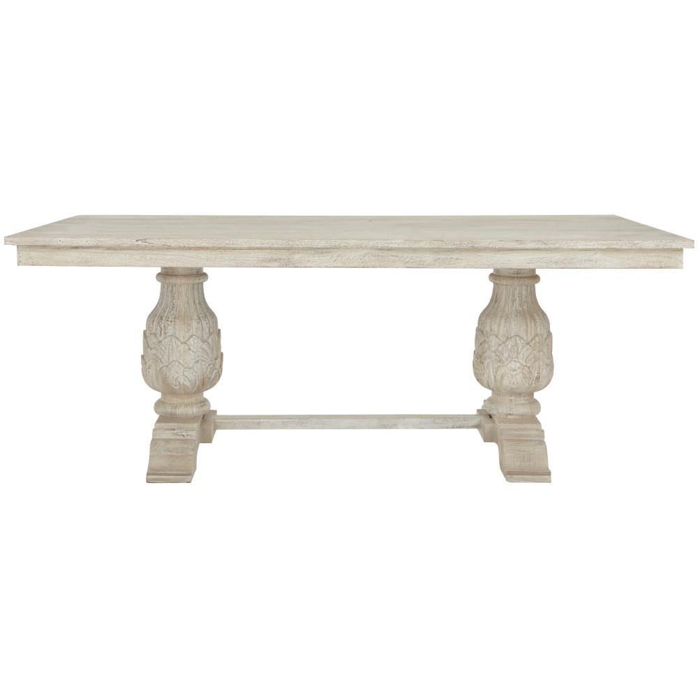 Kingsley Sandblasted White Dining Table