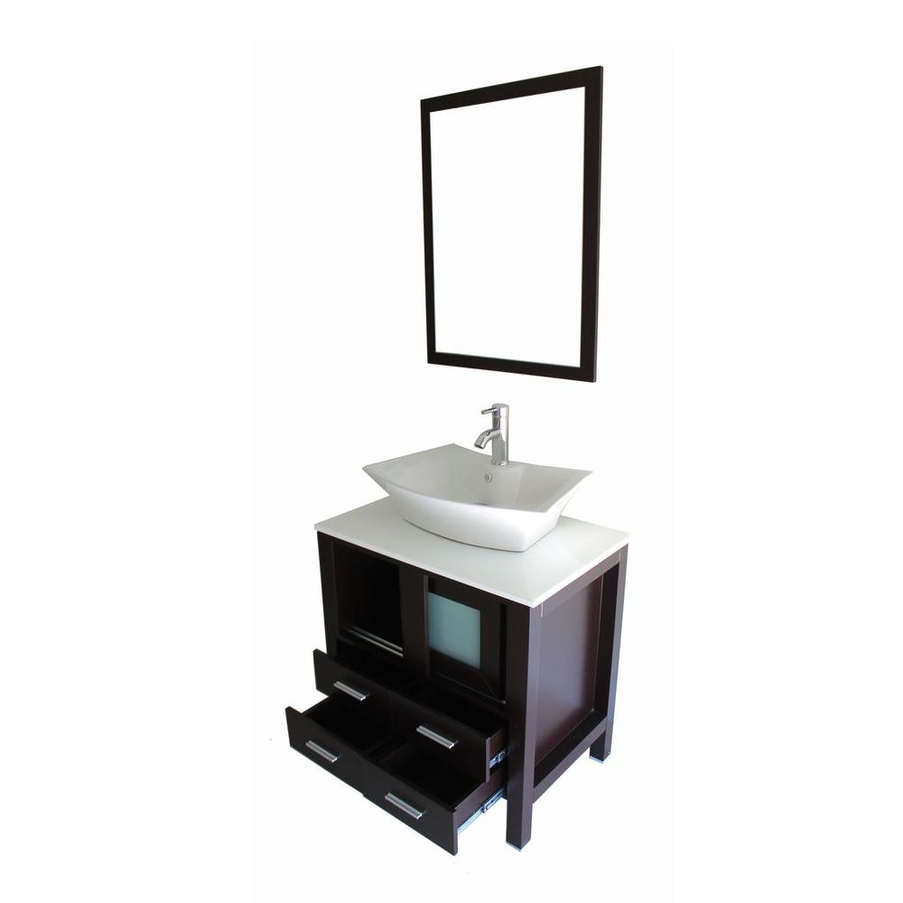 bathroom vanity top with sink kokols daniel 30 in vanity in espresso with marble vanity 22523