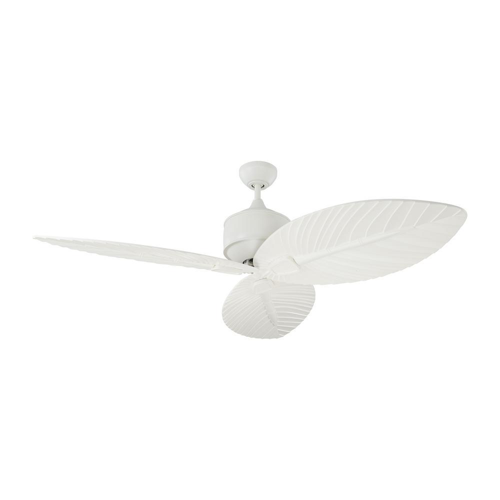 Monte Carlo Delray 56 in. Indoor/Outdoor Matte White Ceiling Fan