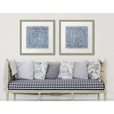 "28 in. x 28 in. ""Colorful Tiles I"" Framed Giclee Print Wall Art"