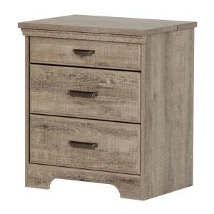 Versa 2-Drawer Nightstand in Weathered Oak