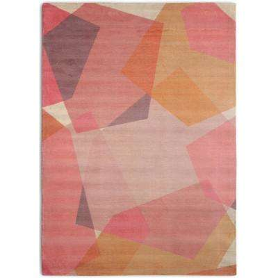Chroma Mid-Century Modern Geometric Blush 7 ft. 6 in. x 9 ft. 6 in.  Area Rug