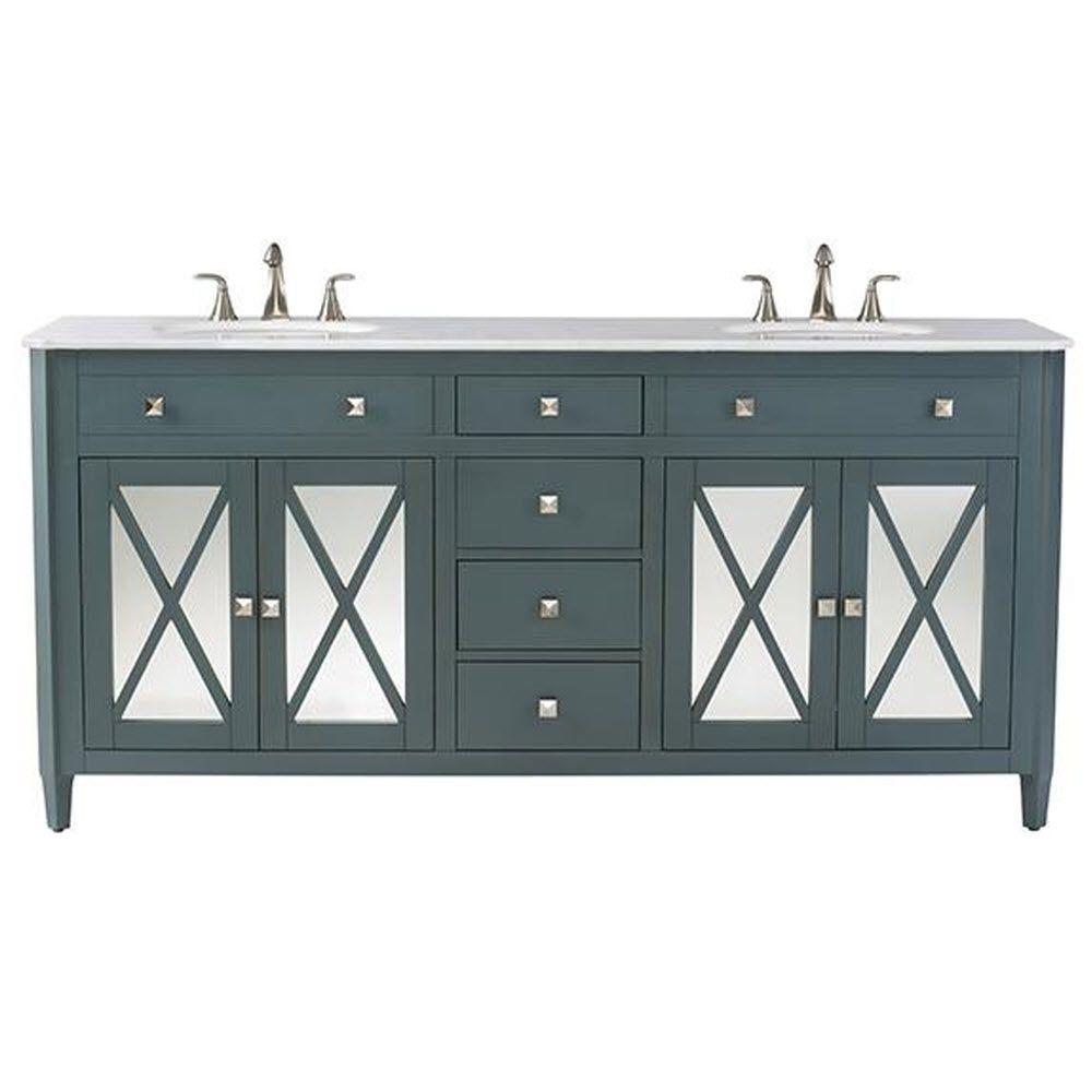 blue bathroom vanity cabinet. D Double Bath Vanity in Teal Blue  Bathroom Vanities The Home Depot