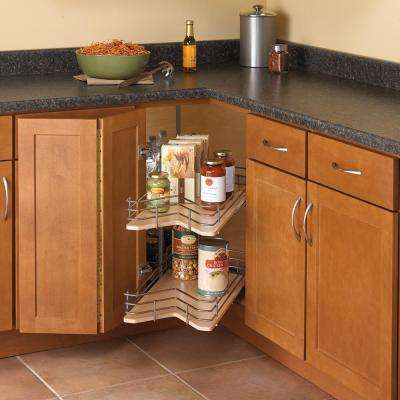 30 in. x 28.88 in. x 28 in. Kidney Shaped Drawer System Lazy Susan