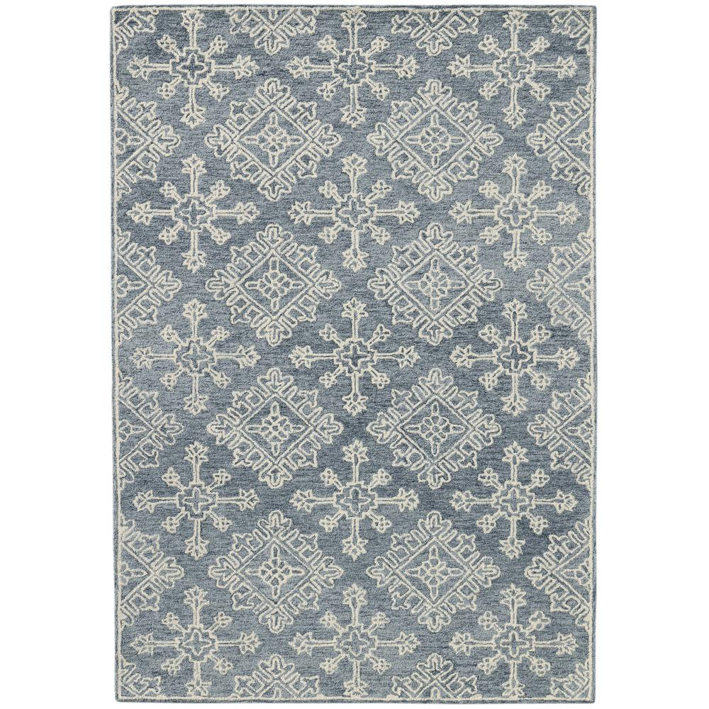 Boston Blue Gray 5 Ft X 7 Ft 6 In Hand Tufted New Zealand Wool Area Rug Bos340576 The Home Depot
