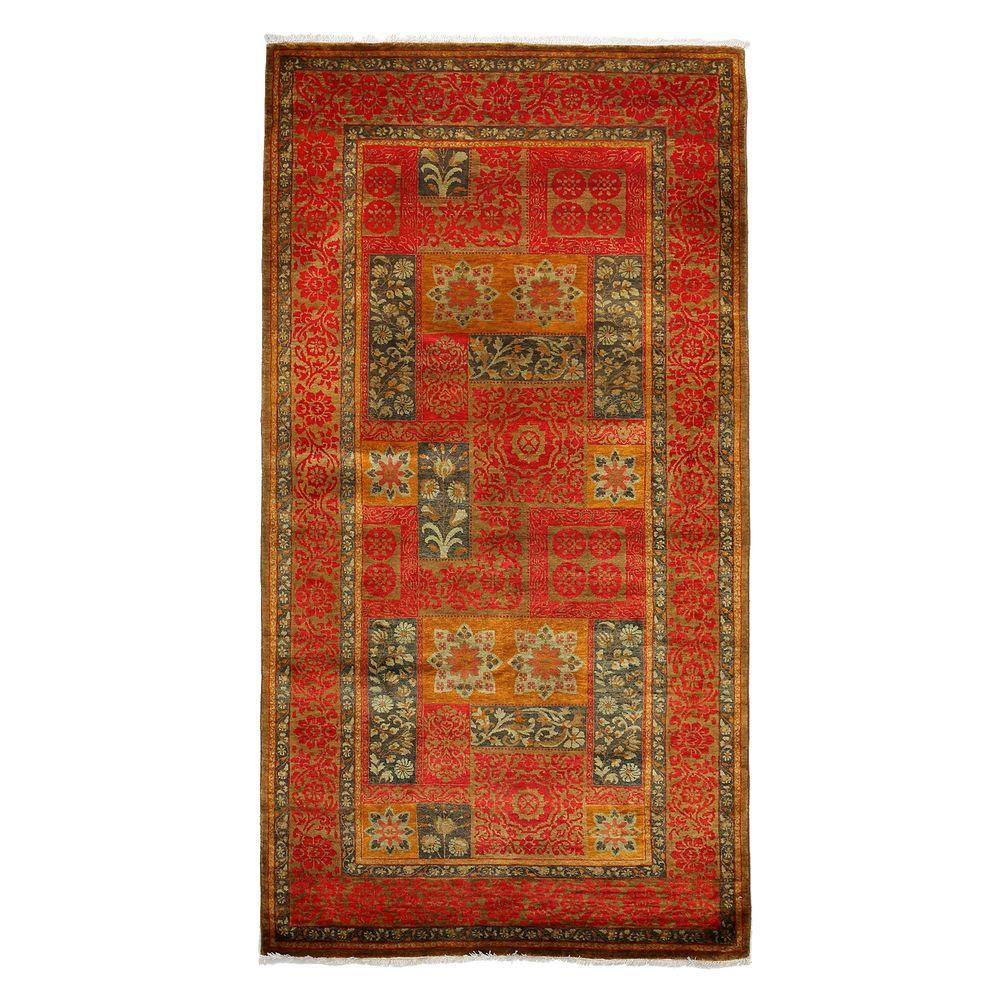 Darya Rugs Suzani Red 5 ft. 3 in. x 9 ft. 9 in. Indoor Area Rug