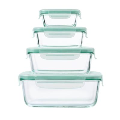 Good Grips 8-Piece Smart Seal Glass Rectangle Container Set