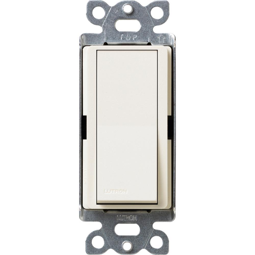 Claro 15 Amp 3-Way Rocker Switch with Locator Light, Biscuit
