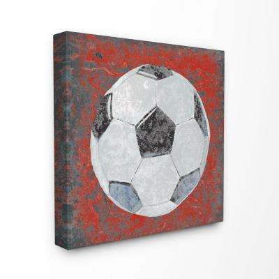 "30 in. x 30 in. ""Grunge Sports Equipment Soccer"" by Studio W Printed Canvas Wall Art"