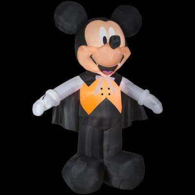 8 ft. W x 10 ft. H Inflatable Disney Mickey Vampire in Orange Vest