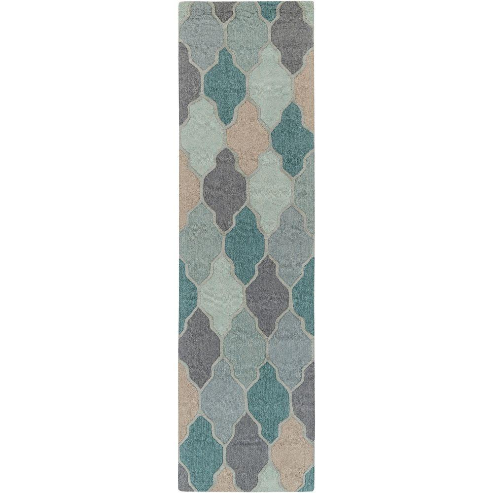 Pollack Morgan Teal 2 ft. 3 in. x 8 ft. Indoor