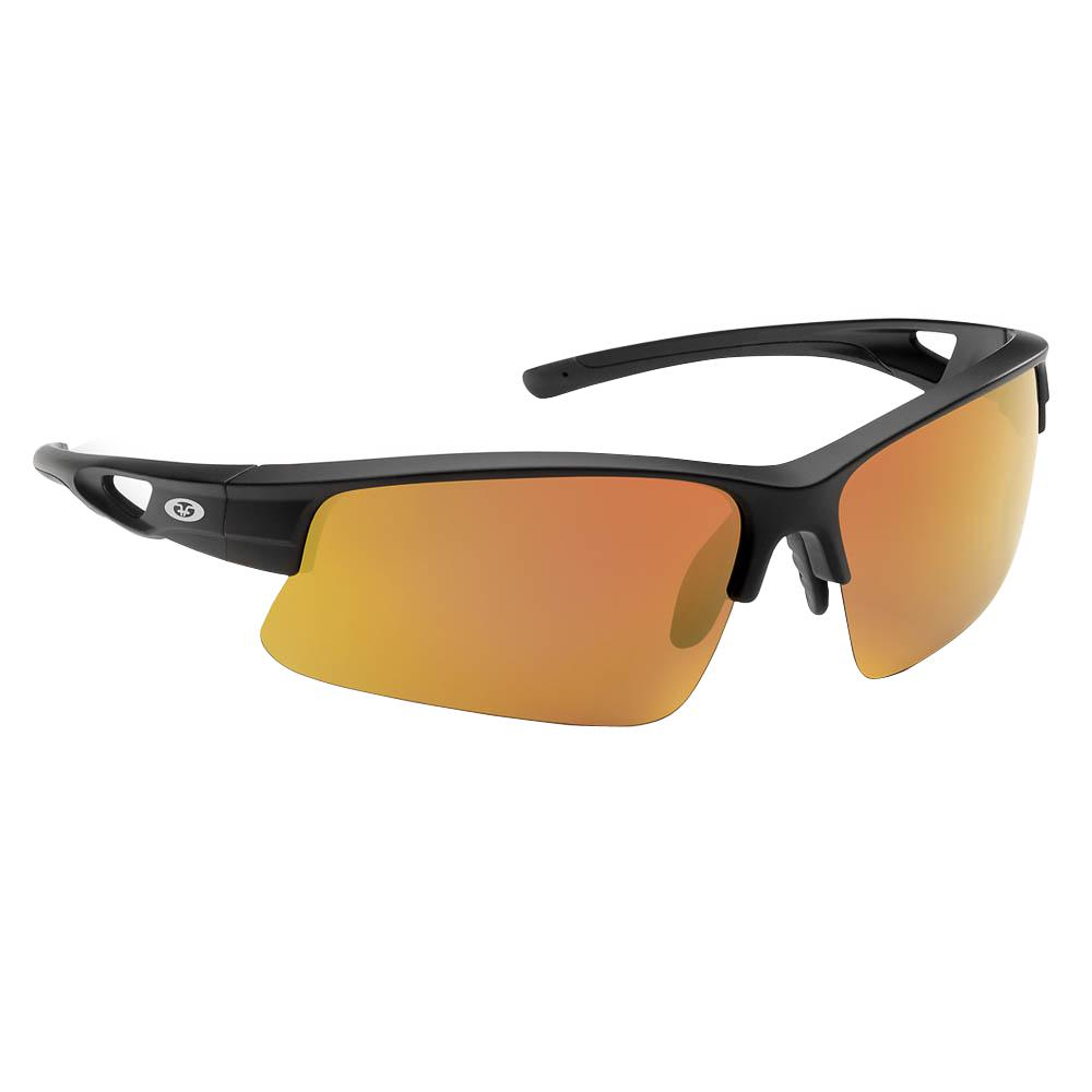 6f86dd328dcd Flying Fisherman Moray Polarized Sunglasses Matte Black Frame with Copper  Red Mirror Lens