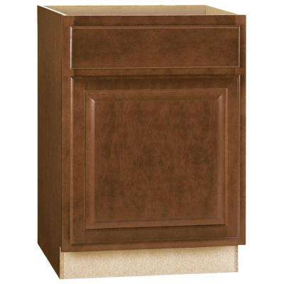 Hampton Assembled 24x34.5x24 in. Base Kitchen Cabinet with Ball-Bearing Drawer Glides in Cognac