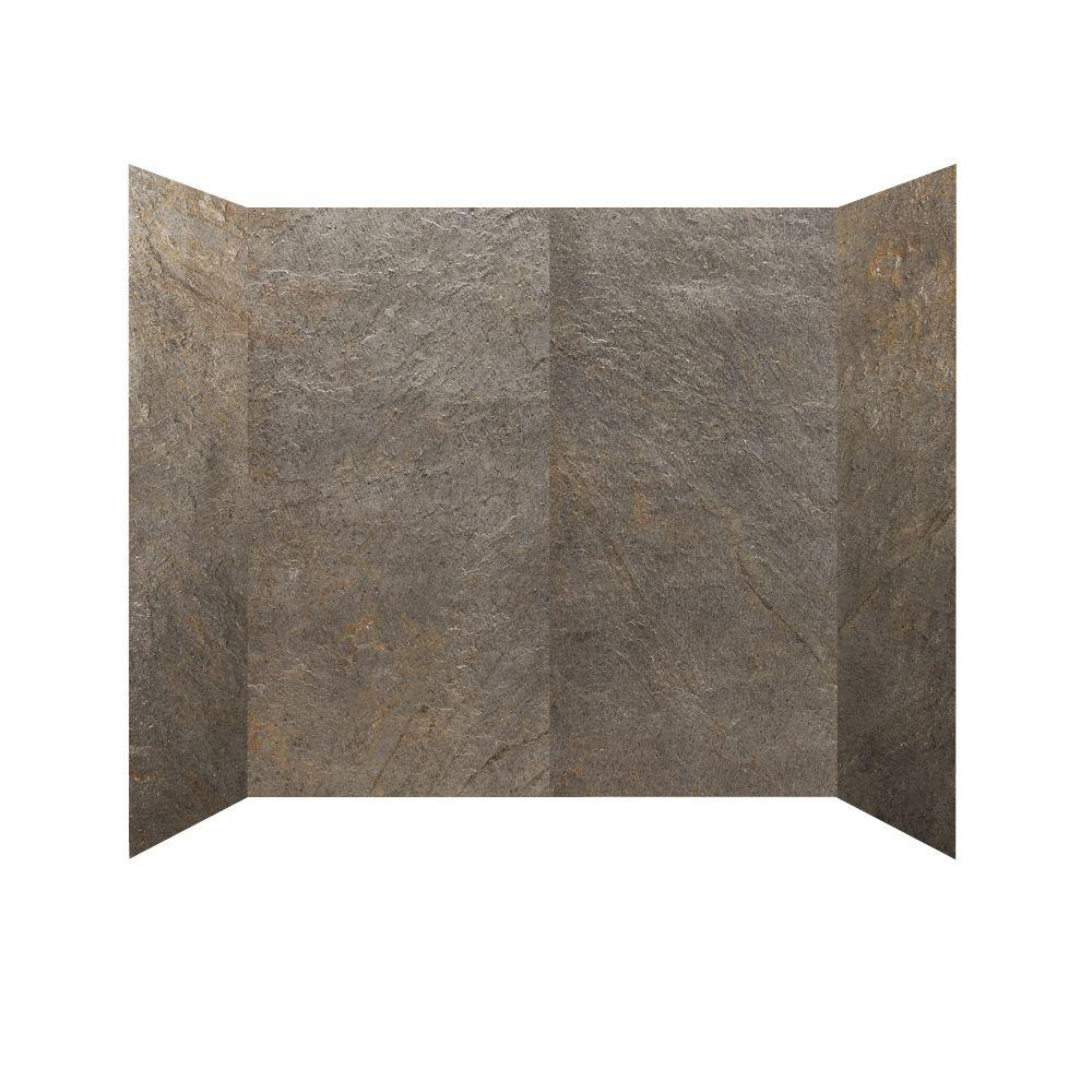 null 30 in. x 60 in. x 60 in. 4 Panel Tub Surround in Verde River-DISCONTINUED