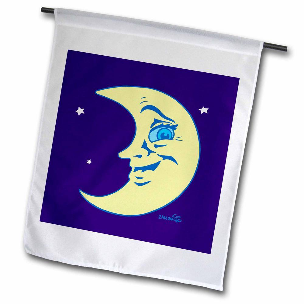Celestial 1 ft. x 1-1/2 ft. Moon Art Flag