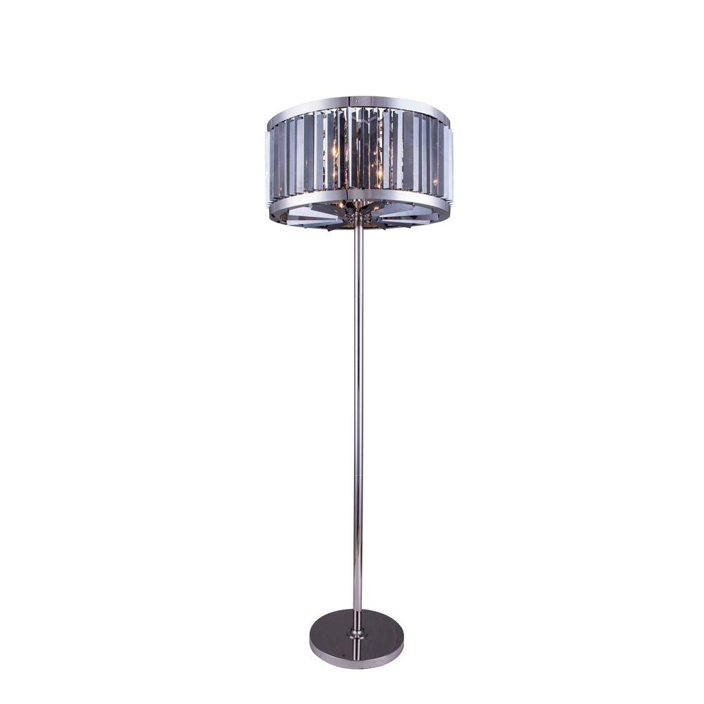 Elegant Lighting Chelsea 72 In Polished Nickel Floor Lamp