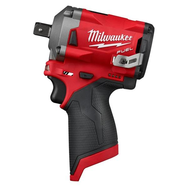 M12 FUEL 12-Volt Lithium-Ion Brushless Cordless Stubby 1/2 in. Impact Wrench with Pin Detent (Tool-Only)