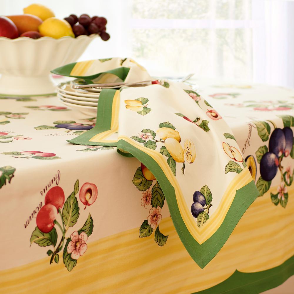 French Garden 21 in. W x 21 in. L in Multi-Color Napkins (Set of 4)