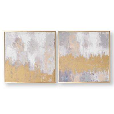 "20 in. x 20 in. ""Laguna Mist"" Printed Canvas Wall Art"