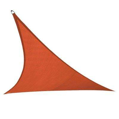 15 ft. x 12 ft. x 10 ft. Terracotta Right Triangle Ultra Shade Sail